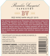 2015 Beaulieu Vineyard Reserve Tapestry Napa Valley Red Blend Back Label, image 3