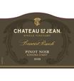 2015 Chateau St. Jean Grace Benoist Ranch Sonoma Coast Pinot Noir Front Label, image 2