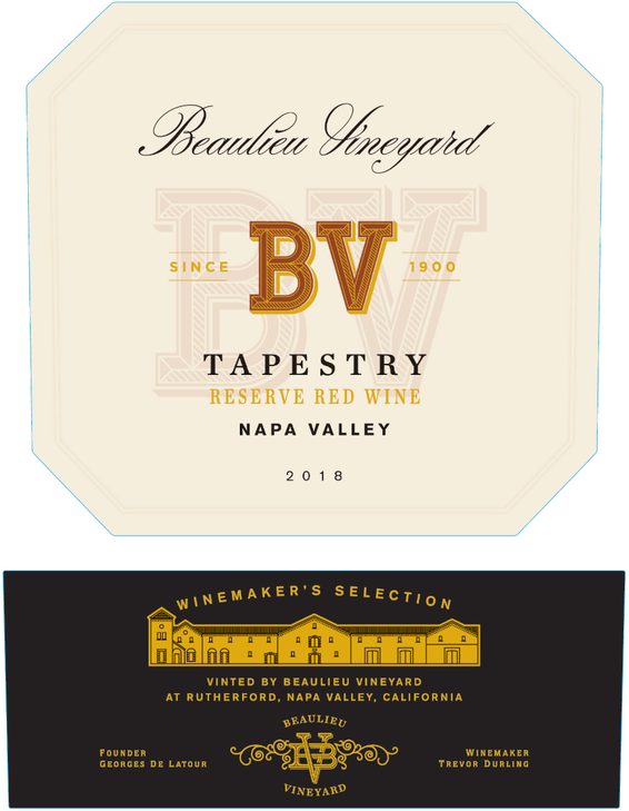 2018 Beaulieu Vineyard Tapestry Reserve Red Wine Napa Valley Front Label