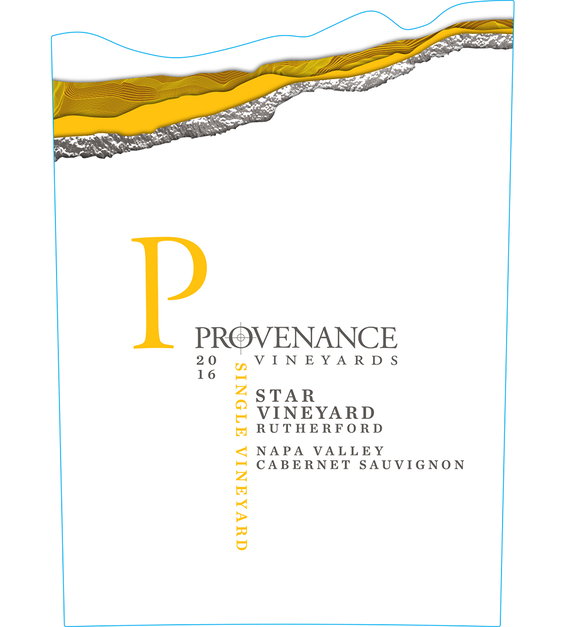 2016 Provenance Vineyards Star Vineyard Rutherford Cabernet Sauvignon Front Label