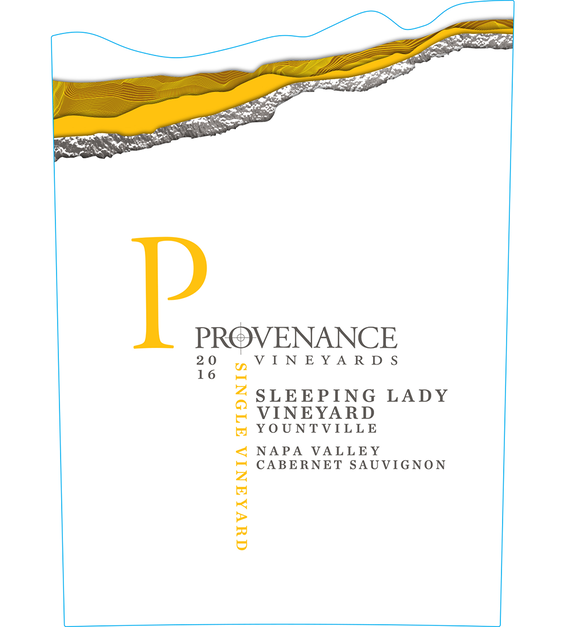 2016 Provenance Vineyards Sleeping Lady Vineyard Yountville Cabernet Sauvignon Front Label