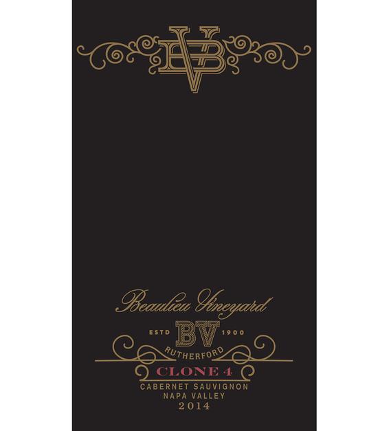 2014 Beaulieu Vineyard Reserve Clone 4 Rutherford Cabernet Sauvignon Front Label