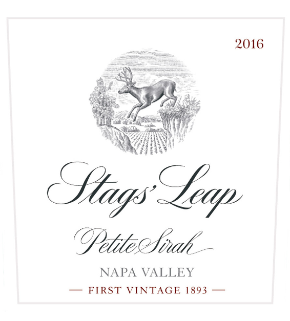 2016 Stags' Leap Napa Valley Petite Sirah Front Label
