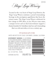 2016 Stags' Leap Napa Valley Cabernet Sauvignon Back Label