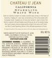 2016 Chateau St. Jean Sparkling California Blanc de Blanc Back Label