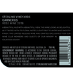 2018 Sterling Vineyards Carneros Rosé of Syrah Back Label, image 3