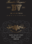 2016 Beaulieu Vineyard Maestro Port Front Label, image 2