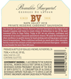 2016 Beaulieu Vineyard Georges de Latour Private Reserve Napa Valley Cabernet Sauvignon Back Label, image 3