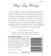 2017 Stags' Leap Napa Valley Merlot Back Label, image 3