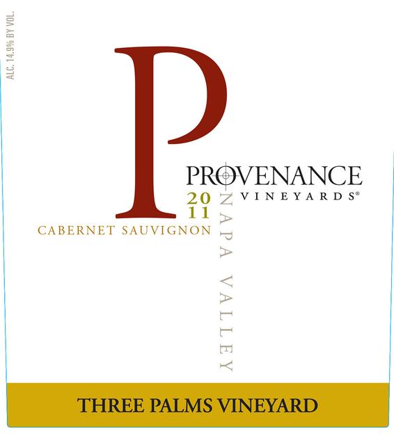 2011 Provenance Vineyards Three Palms Vineyard Napa Valley Cabernet Sauvignon Front Label