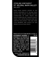 2016 Sterling Vineyards St. Helena Malbec Back Label