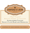 2017 Chateau St. Jean Late Harvest Belle Terre Vineyard Alexander Valley Riesling 375ml Front Label, image 2