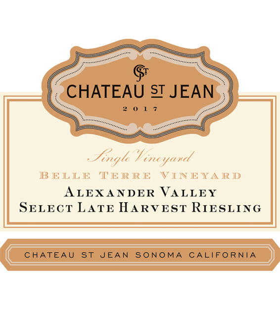 2017 Chateau St. Jean Late Harvest Belle Terre Vineyard Alexander Valley Riesling 375ml Front Label