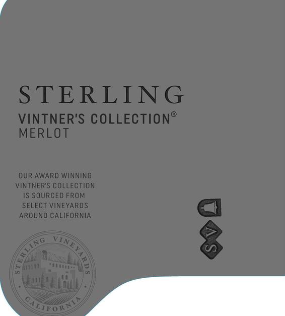 2017 Sterling Vineyards Vintner's Collection California Merlot Front Label