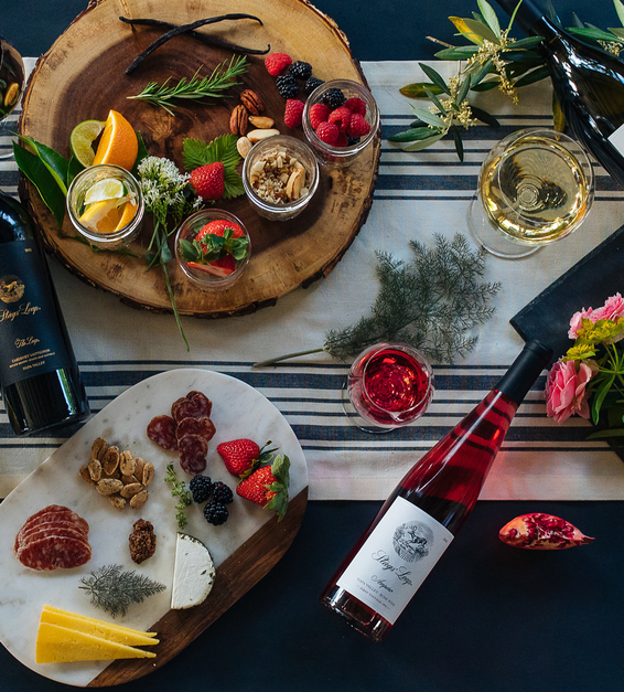 2019 Stags Leap Amparo Rose Tabletop Setting