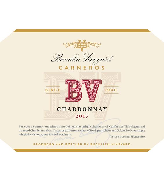 2017 Beaulieu Vineyard Carneros Chardonnay Front Label
