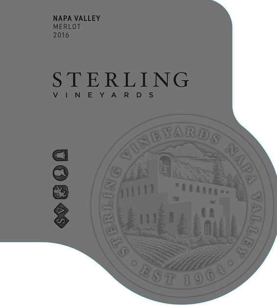 2016 Sterling Vineyards Napa Valley Merlot Front Label