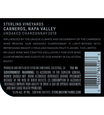2018 Sterling Vineyards Unoaked Carneros Chardonnay Back Label, image 3