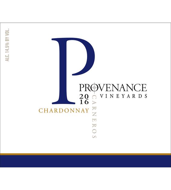 2016 Provenance Vineyards Carneros Chardonnay Front Label