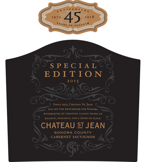 2015 Chateau St. Jean 45th Anniversary Alexander Valley Cabernet Sauvignon Front Label