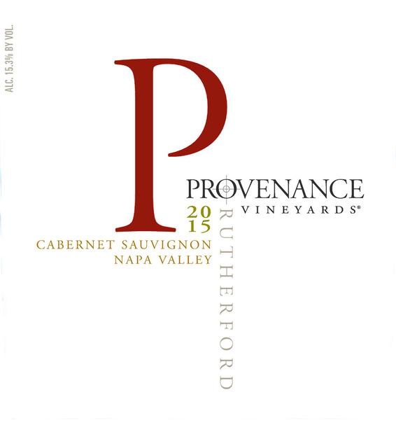 2015 Provenance Vineyards Rutherford Cabernet Sauvignon Front Label