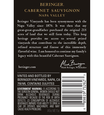 2014 Beringer Distinction Series Napa Valley Cabernet Sauvignon Back Label
