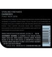 2018 Sterling Vineyards Carneros Pinot Noir Back Label