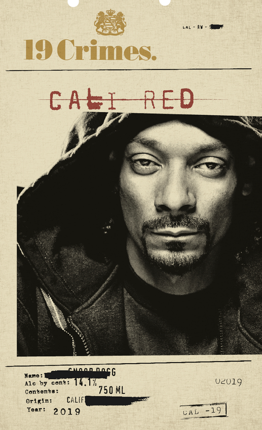 2019 19 Crimes Snoop Cali Red
