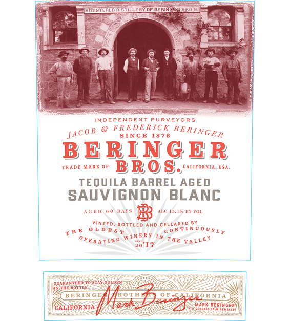 2017 Beringer Brothers Tequila Barrel Aged Sauvignon Blanc Front Label