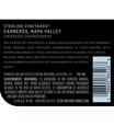 2017 Sterling Vineyards Unoaked Carneros Chardonnay Back Label, image 2