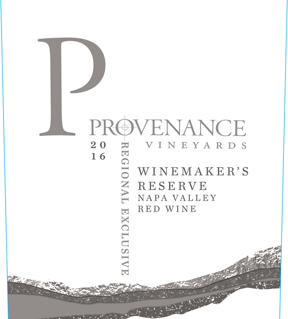 2016 Provenance Vineyards Winemakers Reserve Napa Valley Red Blend Front Label