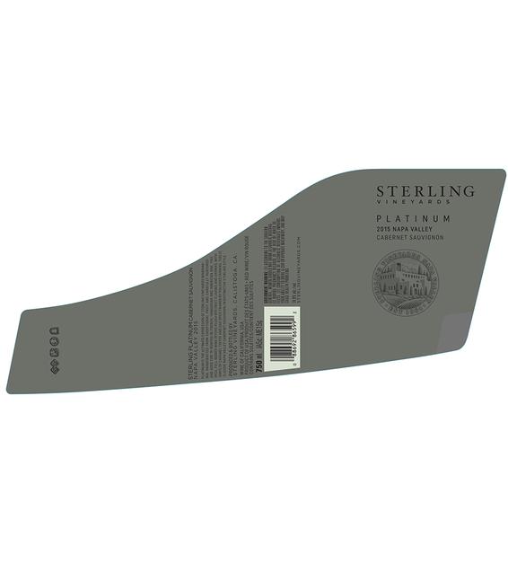 2015 Sterling Vineyards Platinum Napa Valley Cabernet Sauvignon Back Label