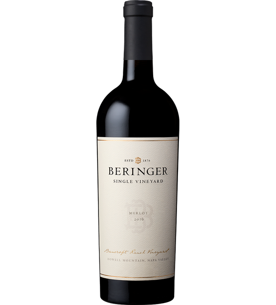 2016 Beringer Bancroft Ranch Howell Mountain Merlot