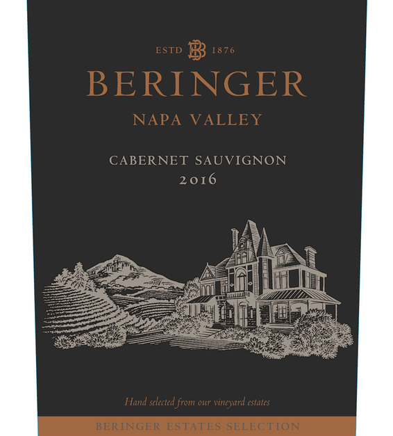 2016 Beringer Winery Exclusive 3 Acre Knights Valley Red Blend Front Label