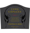 2012 Chateau St. Jean Cinq Cépages Sonoma County Red Blend Front Label, image 2