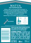 2019 Matua Marlborough Sauvignon Blanc Back Label, image 3