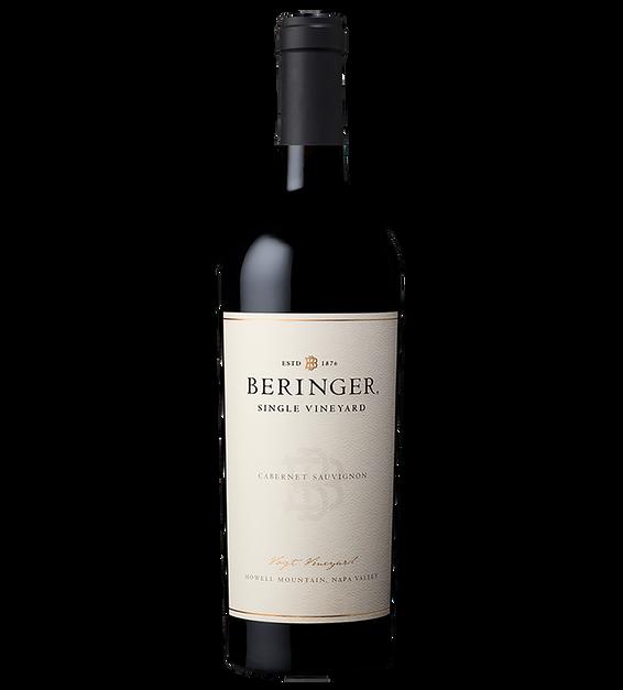 2014 Beringer Howell Mountain Napa Valley Vogt Vineyard Cabernet Sauvignon Bottle Shot