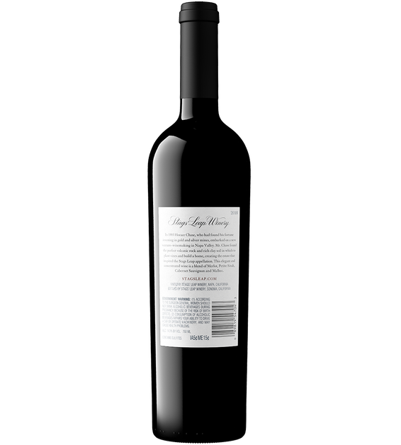 2018 Stags' Leap The Investor Red Wine Napa Valley Back Bottle Shot