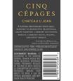 2014 Chateau St. Jean Cinq Cépages Sonoma County Red Blend Back Label