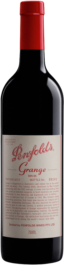 2012 Penfolds Grange Bottle