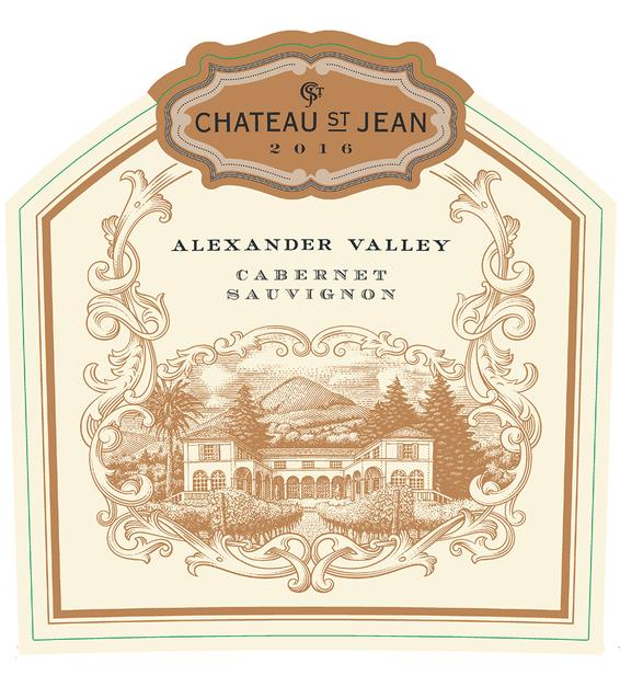 2016 Chateau St. Jean Alexander Valley Cabernet Sauvignon Front Label