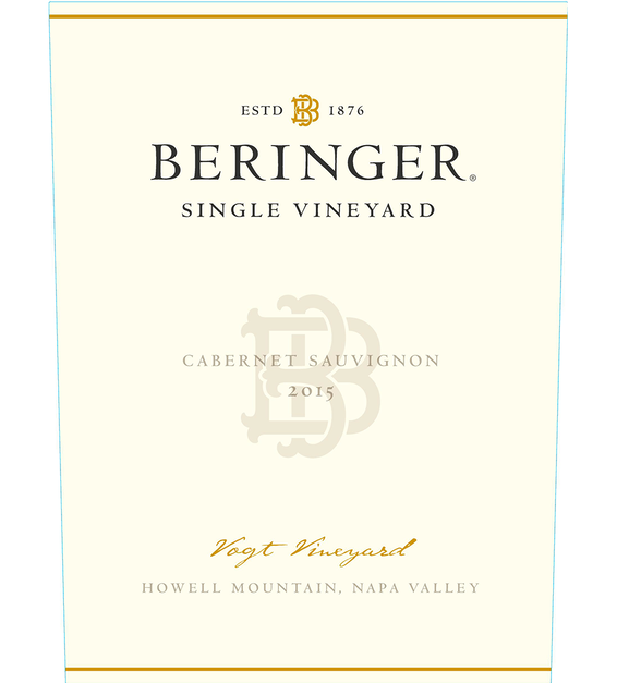 2015 Beringer Vogt Vineyard Howell Mountain Cabernet Sauvignon Front Label
