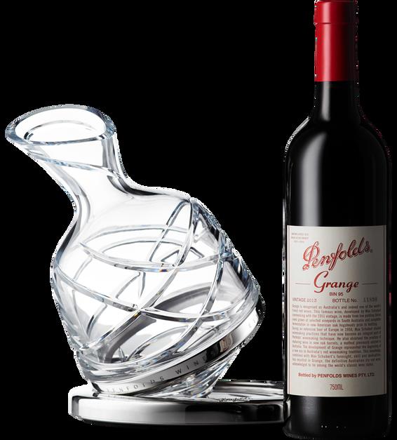 2013 Penfolds Grange bottle and Saint Louis Decanter