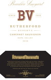 2018 Rutherford Reserve Cabernet Sauvignon Front Label, image 2