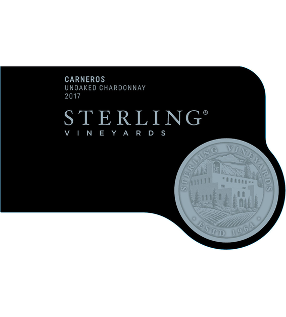 2017 Sterling Vineyards Unoaked Carneros Chardonnay Front Label