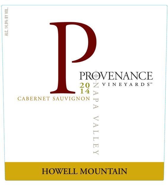 2014 Provenance Vineyards Howell Mountain Cabernet Sauvignon Front Label