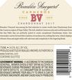 2017 Beaulieu Vineyard Carneros Chardonnay Back Label, image 3