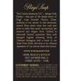 2012 Stags' Leap Audentia Estate Grown Napa Valley Cabernet Sauvignon Back Label, image 3