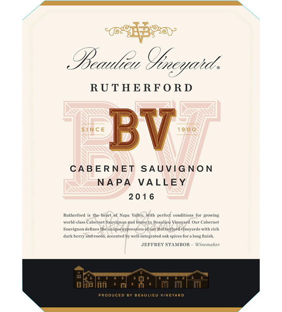 2016 Beaulieu Vineyard Rutherford Cabernet Sauvignon Front Label