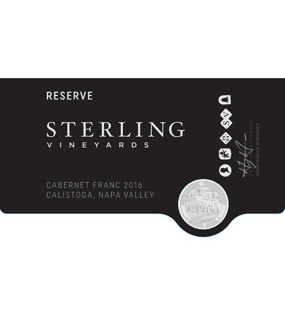 2016 Sterling Vineyards Reserve Calistoga Cabernet Franc Front Label